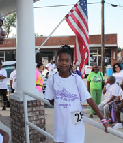 Walker Tytiana Sparks for Notasulga's WIN 2015 Steps to the Cure 3-mile walk