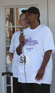 cancer survior at Notasulga WIN's 3-mile Steps to the Cure cancer walk