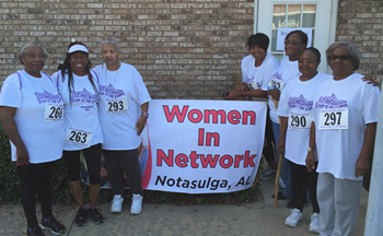 WIN[ners] at their 3-mile Notasulga Steps to the Cure walk